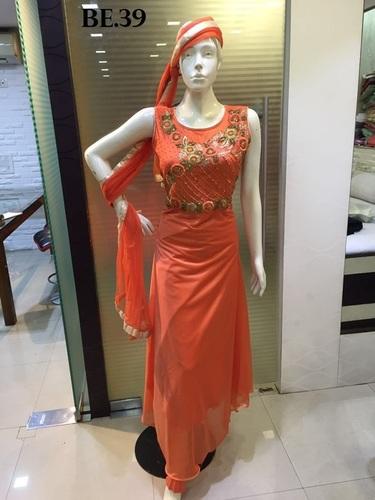 Long Straight Cut Salwar Suits