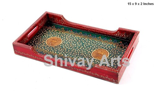 Wooden Fine Embossed Serving / Decorative Tray