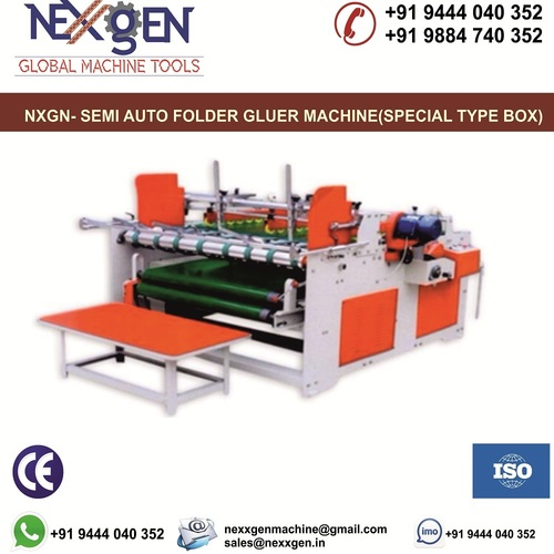 SEMI-AUTO FOLDER GLUER MACHINE (SPECIAL TYPE BOX)