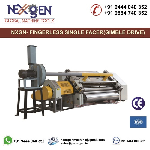 VACUUM  FINGERLESS SINGLE FACER CORRUGATION MACHINE(GIMBLE DRIVE)