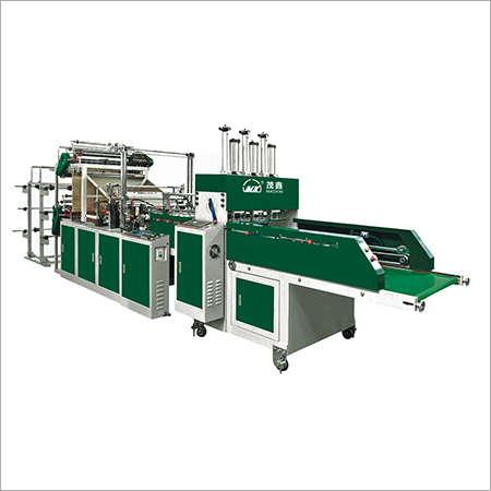 Automatic Double Channels Double Layer 4 6 Lines Vest Bag Sealing Cutting Machine