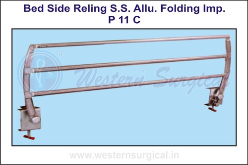 Bed Side Reling S.S.Allu.Folding Imp.