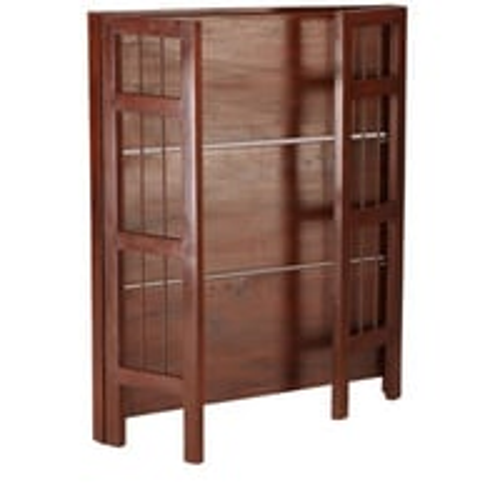 Foldable teak wood shelf