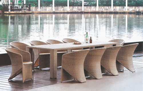Cozy Style Outdoor Wicker Dining Table Set