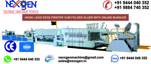 Printer Cum Folder Gluer With Online Bundler