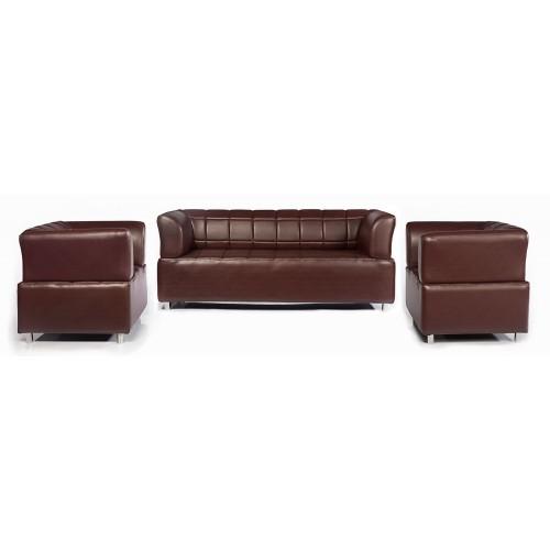 3+1+1 Leather Sofa