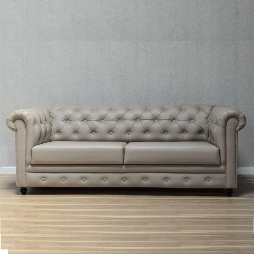 Beige Leather Sofa