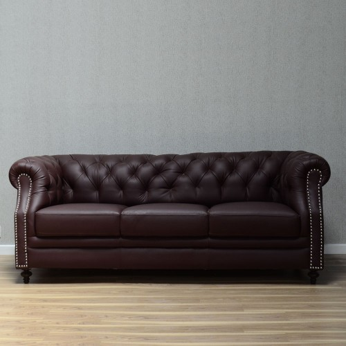 Pine red 3 seater sofa