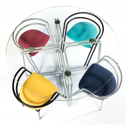Colorful Glass dining Table
