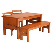 Wooden Dining with Bench