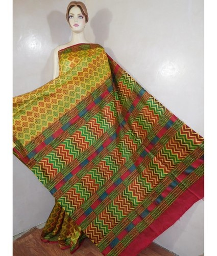 Printed Dupion Saree