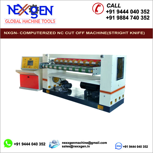 NC cut off machine( Stright knife)