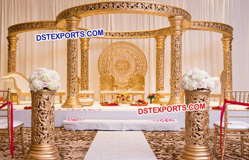 Golden Fiber Designer Wedding Mandap