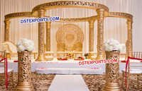 Golden Fiber Designer Wedding Mandap