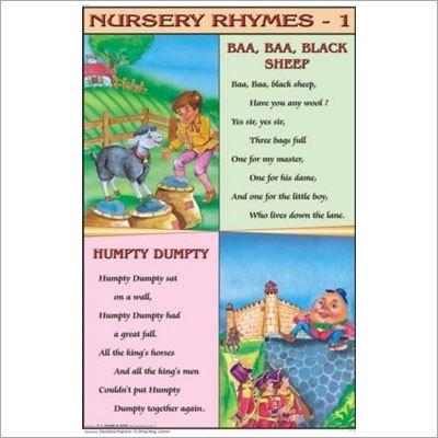 Baa Baa Black Sheep, Humpty Dumpty Nursery Rhymes Chart