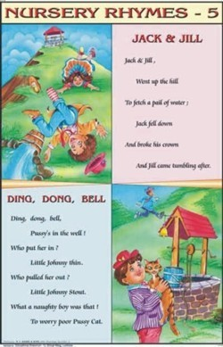 Jack And Jill & Ding Dong Bell Nursery Rhymes Chart