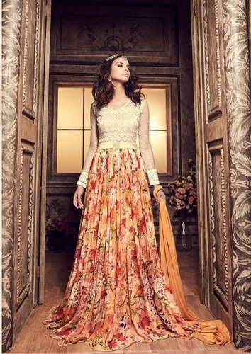 Long Anarkali Party Wear Suits
