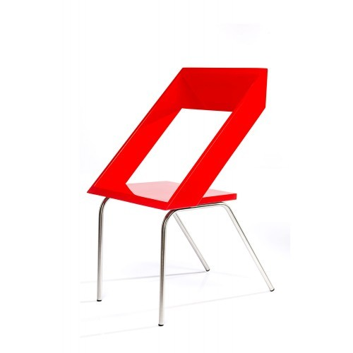 Red Steel Z Chair