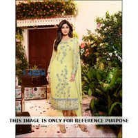 Printed Georgette Embroidered Suit