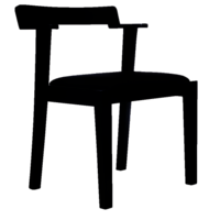 Black Designer Wooden Chair