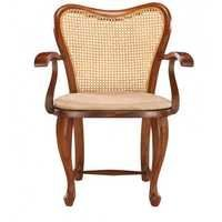 Wooden Beige Net Chair