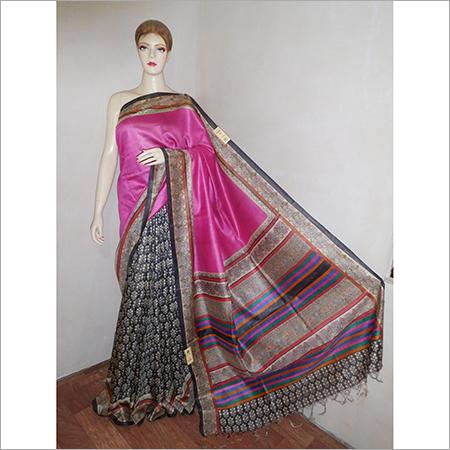 Tussar Muga Silk Saree