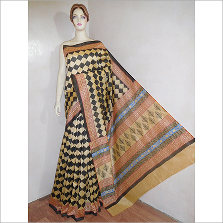 Chanderi Silk Handwoven Daily Wear Saree