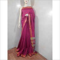 Cotton Silk Temple Border Saree