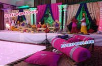 Punjabi Wedding Theme Mehandi Stage