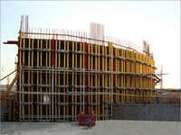 Curved Plywood Wall Form System