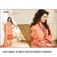Embroidered Georgette Anarkali Suit