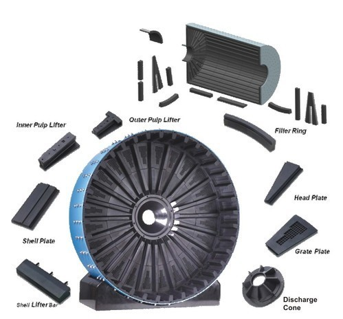 Ball Mill Rubber Lining Diagram
