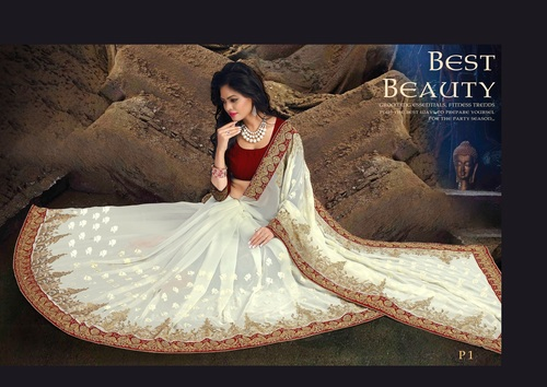 Exclusive Embroidery Designer Saree