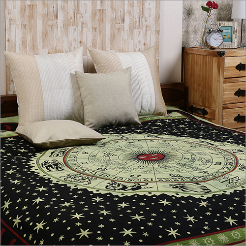 Green cotton Tie Dye Zodiac Horoscope Bedsheets  Bed Covers Hippie Bohemian Tapestry Wall Hanging