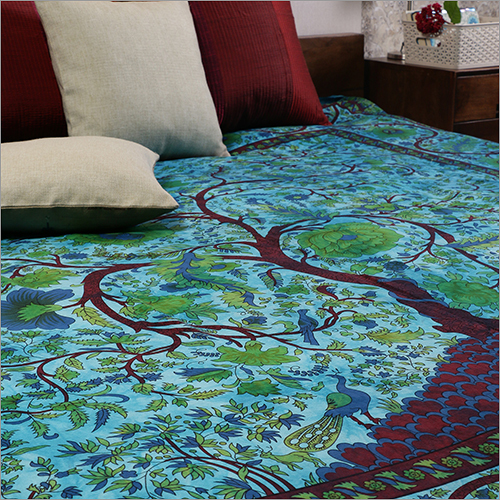 SkyBlue  Cotton Tie Dye Tree Of Life bed Covers Hippie Bohemian Tapestry Wall Hanging