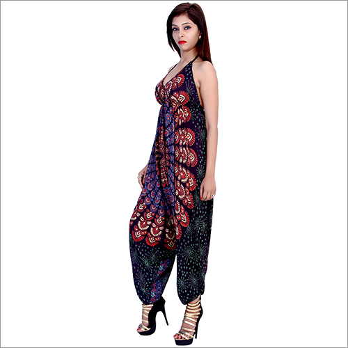 Brown Rayon Mandala Jumpsuit