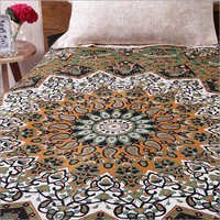Black-A-Cotton Mandala Star  Bedsheets  Bed Covers Hippie Bohemian Tapestry Wall Hanging