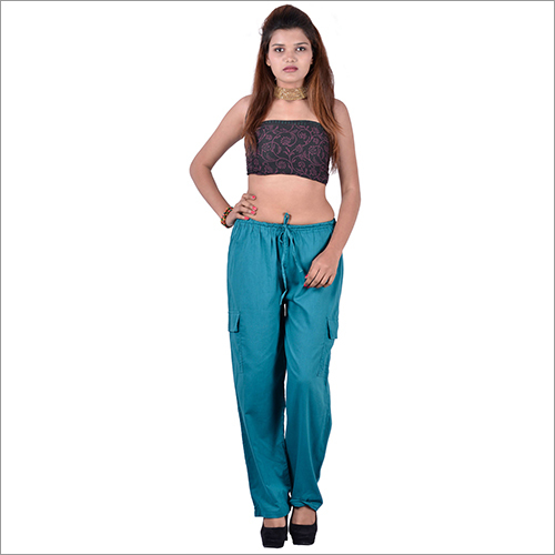 Green Cotton Trouser