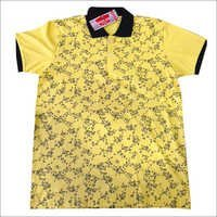 Half Sleeve Yellow T-Shirt