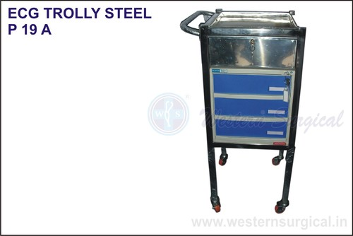 Ecg Trolly Steel