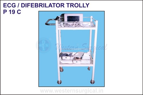 Ecg/Difebrilator Trolly