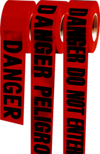 Red Barricade Tape