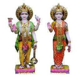 Vishnu laxmi Mrble Statue