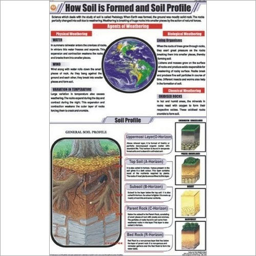 How Soil is formed and soil profile Chart