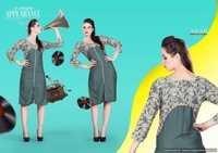 Rayon Cotton Printed Designer Kurtis