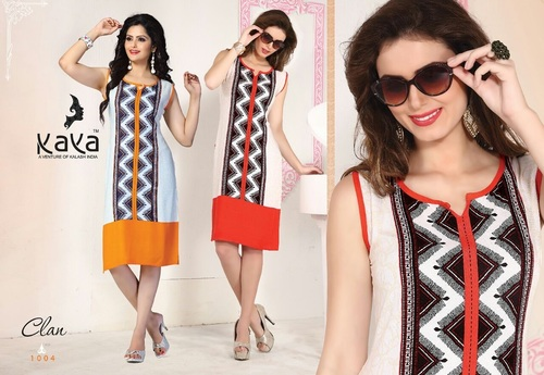 Fashionable Rayon Cotton indian kurtis exporters