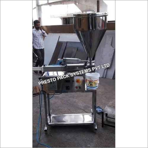 Semi Automatic Fevicol & Distemper Filling Machine