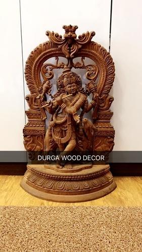 Krishna Wood Statue