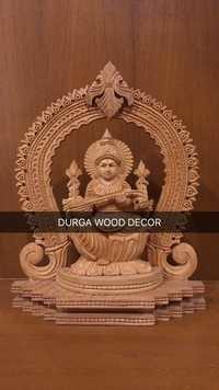 Maa Saraswati Wooden Statue