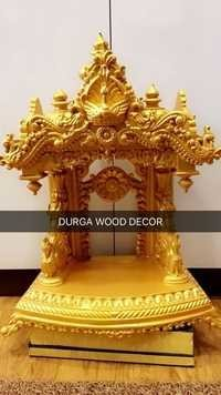 Wooden Temple Golden Finished